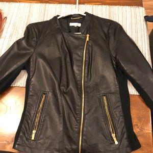 Black Calvin Klein motorcycle jacket